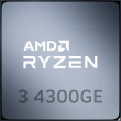 Ryzen 3 4300GE 3.8GHz 4C/8T 35W AM4 APU with Radeon Graphics 6