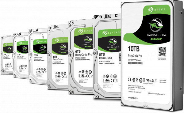 Seagate BarraCuda 3.5in HDDs