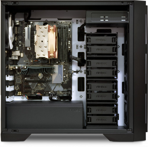 Internal image, shown with NH-U12S CPU cooler, GT1030 GPU on B360 motherboard