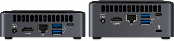 Rear ports: HDMI 2.0a, LAN, 2x USB3.1 and 1x Thunderbolt USB Type-C
